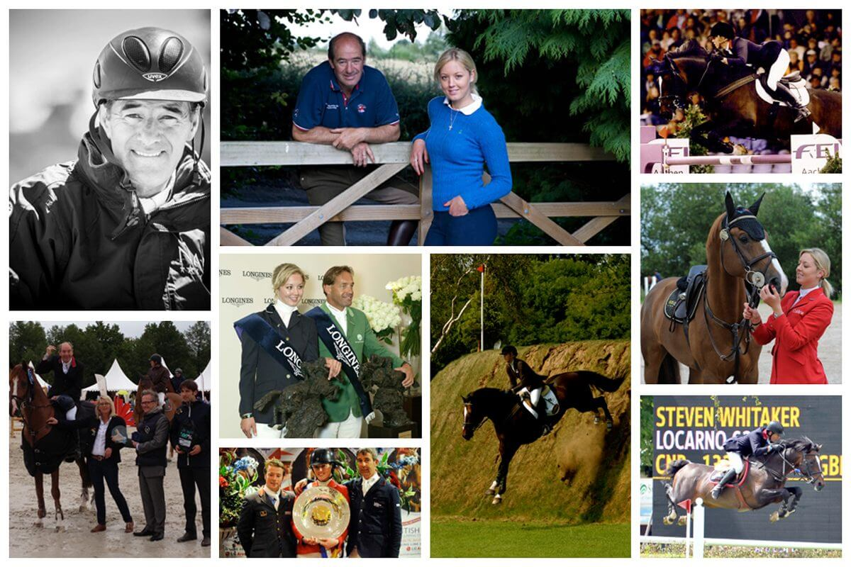 Showjumping collage of owners and horses